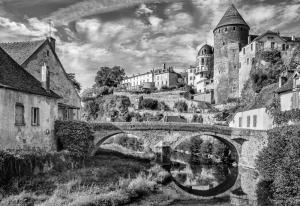Saumur village, France