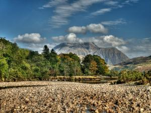 Ben Nevis from the Dry River Bed