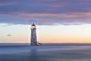 Dawn at Point of Ayr lighthouse