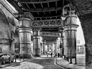 Manchester Castlefield monochrome