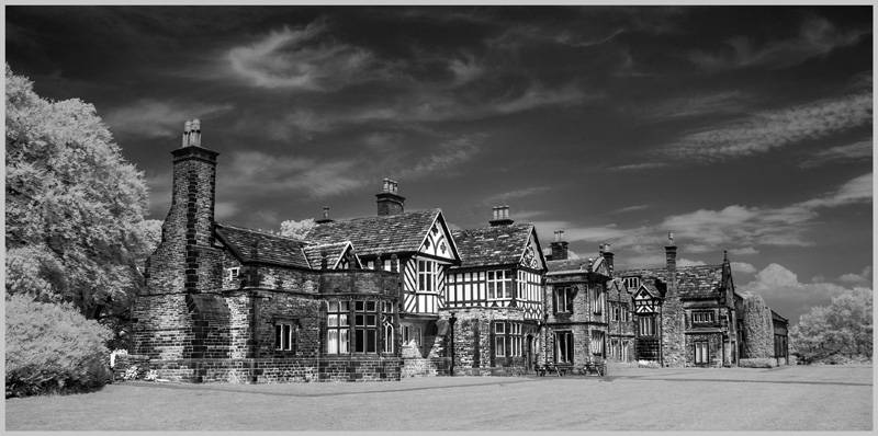 Smithills Old Hall. infrared