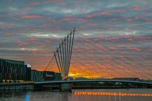 Sunset at Salford Quays