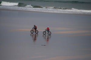 Cycling shoreside