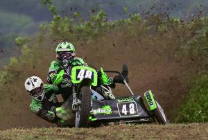 Grass track sidecar racing