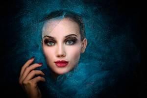 Girl in the blue veil