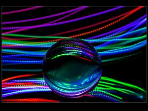 Light reflections in a Crystal ball
