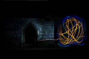 Painting with light, Liverpool Castle
